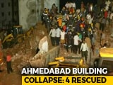 Video : 1 Body Recovered, 4 Rescued After Buildings In Ahmedabad Collapse