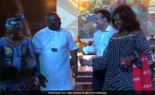 Watch Macron Loosen Up On Nigeria Trip With Visit To Legendary Nightclub