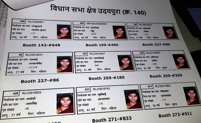 मध्य प्रदेश में 60 लाख फर्जी मतदाता! एक फोटो से 23 वोटर कार्ड