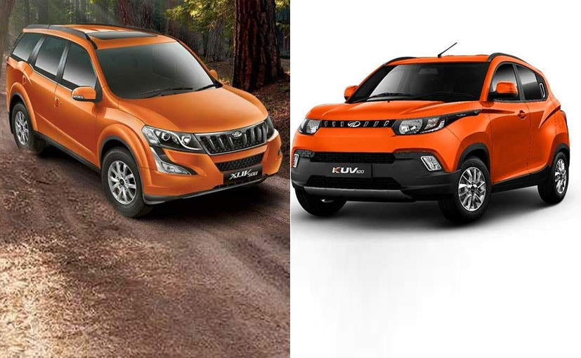 mahindra orange cars