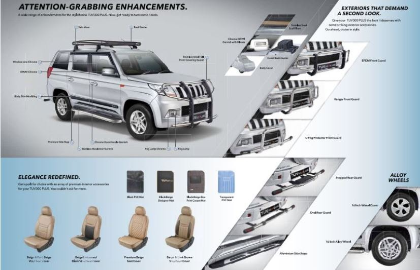 mahindra tuv300 plus exterior accessories