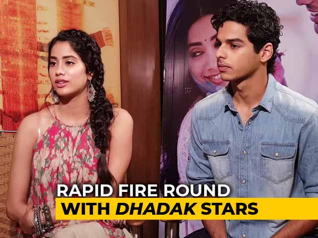 Rapid Fire Round With Janhvi Kapoor & Ishaan Khatter