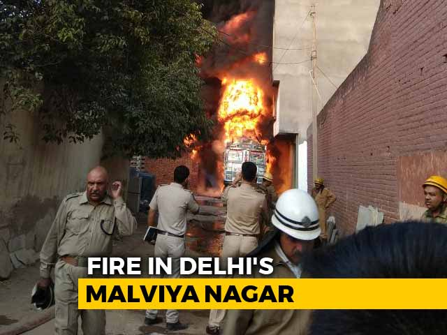 Video : Fire In Delhi's Malviya Nagar Is 'Highest Category', 30 Fire Engines Sent