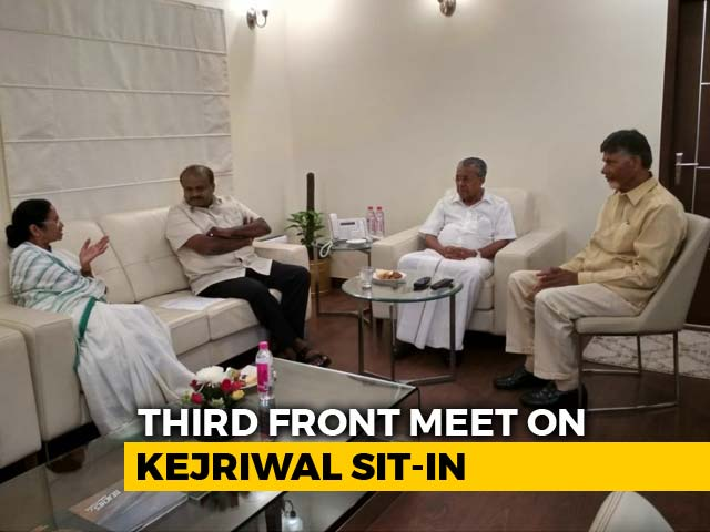 Video : No Permission, Four Chief Ministers Try To Meet Arvind Kejriwal