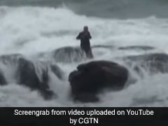 He Went Into Sea To Collect Shells, Got Stuck In High Tide. Watch Rescue