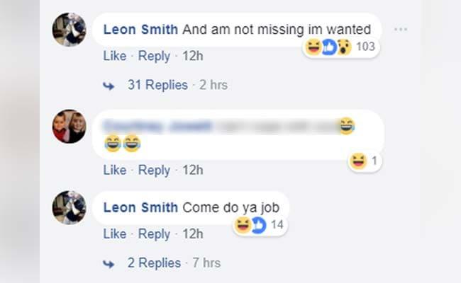 man taunts police on facebook