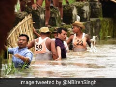 Manipur IAS Officer Praised For Leading Flood Relief In Waist-Deep Water
