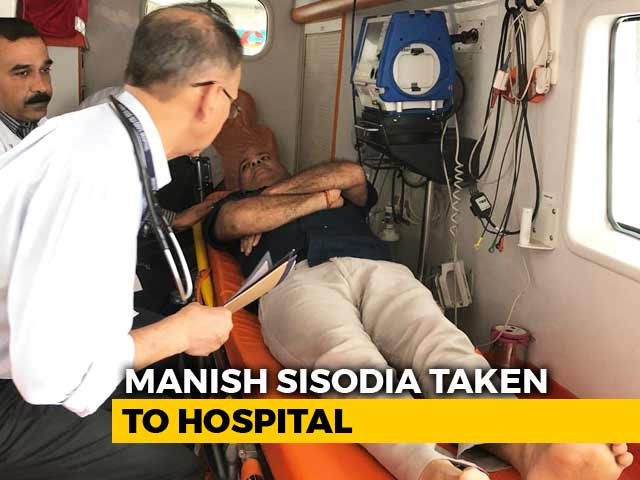 Video : AAP's Manish Sisodia, On Protest Fast At Lt Governor's, Moved To Hospital