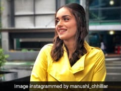 Manushi Chhillar's Bright Yellow Coat On A Rainy Day Is The Perfect Pick Me Up