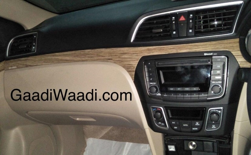 The Maruti Suzuki Ciaz facelift will come with a slightly updated cabin with few selective changes