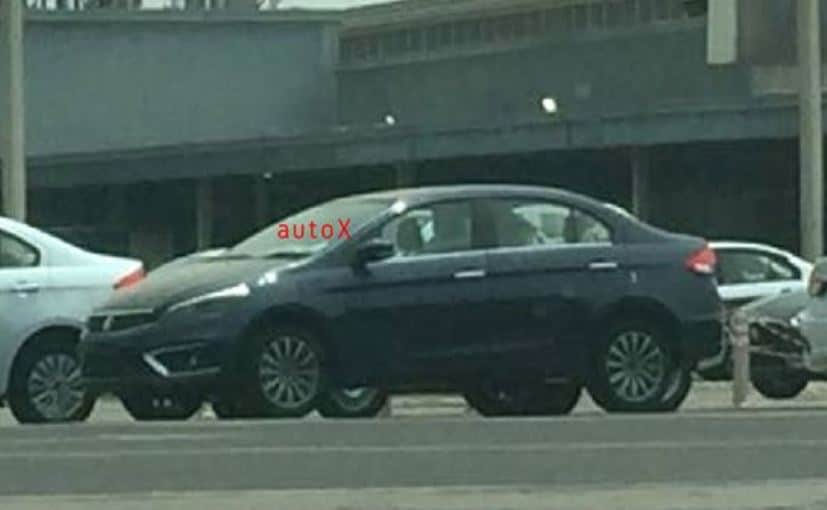 The Maruti Suzuki Ciaz facelift is seen without camouflage for the first time