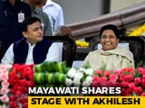 Video: Once Arch-Rivals, Akhilesh Yadav, Mayawati Share Stage At Kumaraswamy Oath