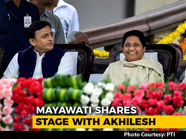 Once Arch-Rivals, Akhilesh Yadav, Mayawati Share Stage At Kumaraswamy Oath