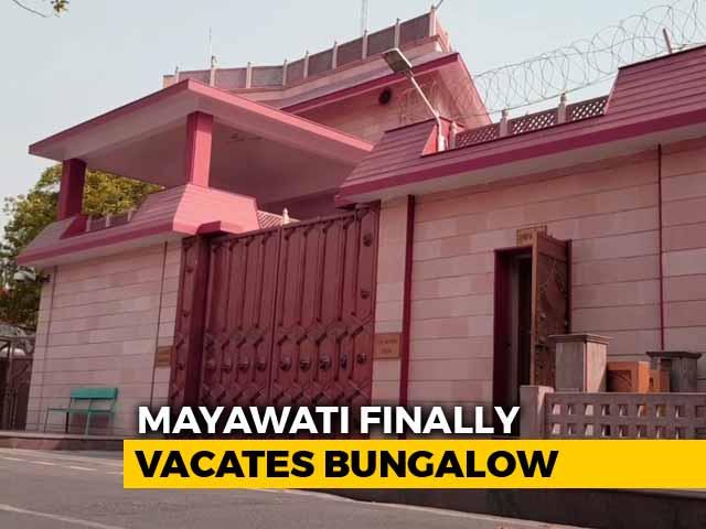 Video : Mayawati Vacates Bungalow That Was Turned Into Kanshi Ram Memorial