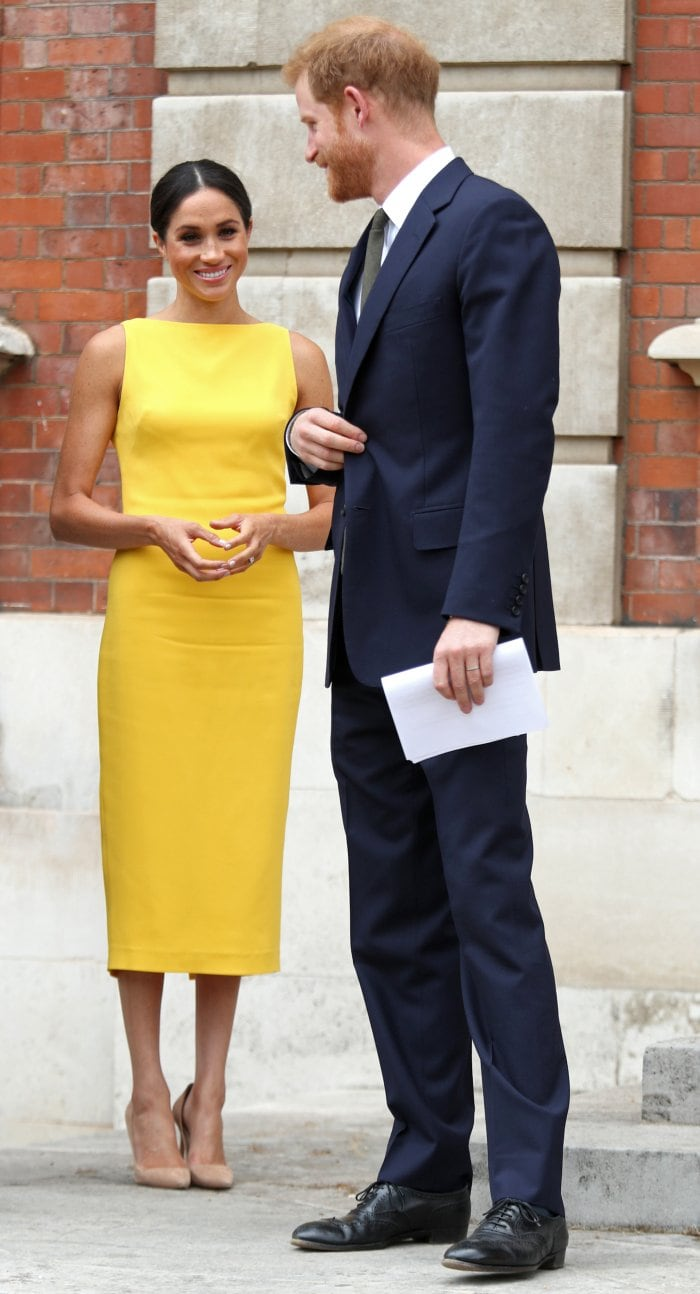 meghan markle yellow