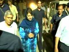 "Mehbooba Mufti In Tears As She Recalls Meeting Shujaat Bukhari ""Days Ago"""