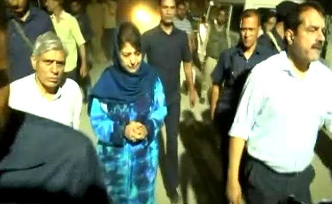 Mehbooba Mufti In Tears As She Recalls Meeting Shujaat Bukhari 'Days Ago'