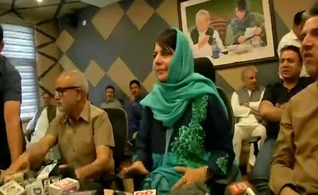 Mission accomplished, says Mehbooba Mufti while refusing to attack BJP