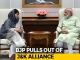 Video: Mehbooba Mufti Resigns As BJP Exits Jammu and Kashmir Alliance