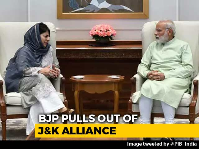 Video : Mehbooba Mufti Resigns As BJP Exits Jammu and Kashmir Alliance