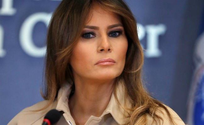Melania Trump Appears Before Cameras For The First Time In Nearly A Month