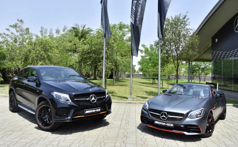 Mercedes Amg Gle 43 Coupe Orangeart And Slc Redart Editions Launched Prices Start At 87 48 Lakh