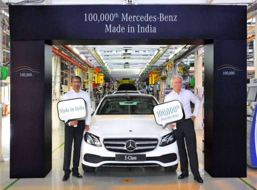 Mercedes Benz India Crosses 1 Lakh Cars Manufacturing Milestone