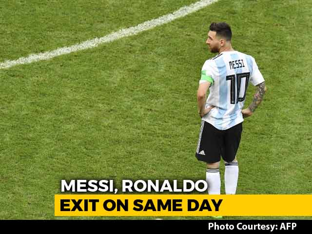 Video : FIFA World Cup 2018, Round Of 16: Lionel Messi's Argentina, Cristiano Ronaldo's Portugal Knocked Out