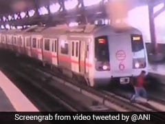 Man Was Almost Run Over By Metro In Delhi. Video Will Give You The Chills