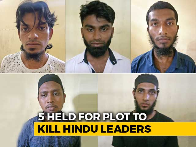 Video : 5 Arrested For Conspiracy To Kill Two Hindu Leaders In Tamil Nadu