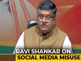 Video : Social Media Won't Be Allowed to Abuse Election Process: Ravi Shankar Prasad