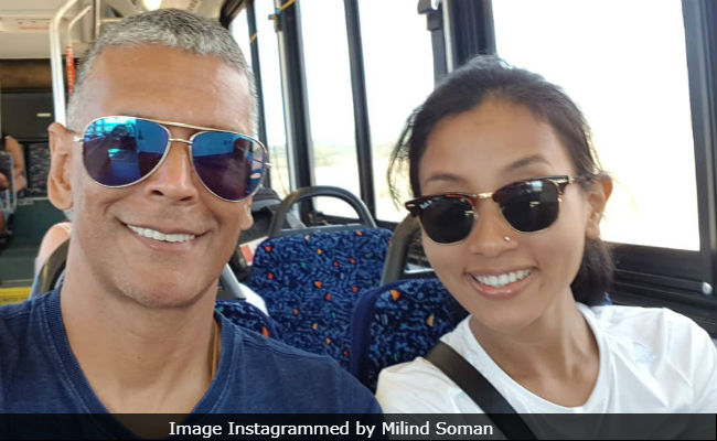 Milind Soman's Bus Selfie With Wife Ankita Konwar Is Winning The Internet And How