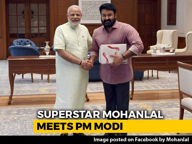 Video : Mohanlal's Meeting With PM Modi Stokes 2019 Kerala Speculation
