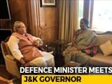 Video : Nirmala Sitharaman, Governor Of Jammu And Kashmir Meet; Discuss Security