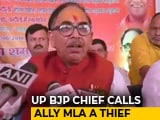"Video : With ""Thief"" Remark, BJP Alienates Ally in Uttar Pradesh"