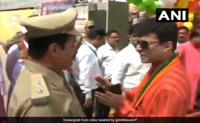 VIDEO: नहीं पहचान पाने पर BJP विधायक ने SP को दी धमकी, कहा- तुम लातों के भूत हो, लातों से ही मानते हो