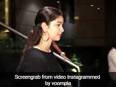 फिल्म देखने आईं सारा को पिक करने आए पापा सचिन तेंदुलकर, वीडियो हुआ Viral
