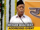 Video : Sangh Is Sangh, Pranab Is Pranab, Says RSS Chief Mohan Bhagwat