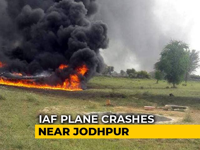 Video : Air Force's MiG-27 Jet Crashes Near Jodhpur, Pilot Ejects Safely