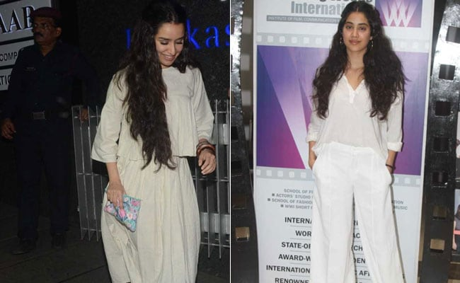 557424b3f2bad5 Shraddha And Janhvi Kapoor Have Something In Common - It s Not Just The  White On White Outfits