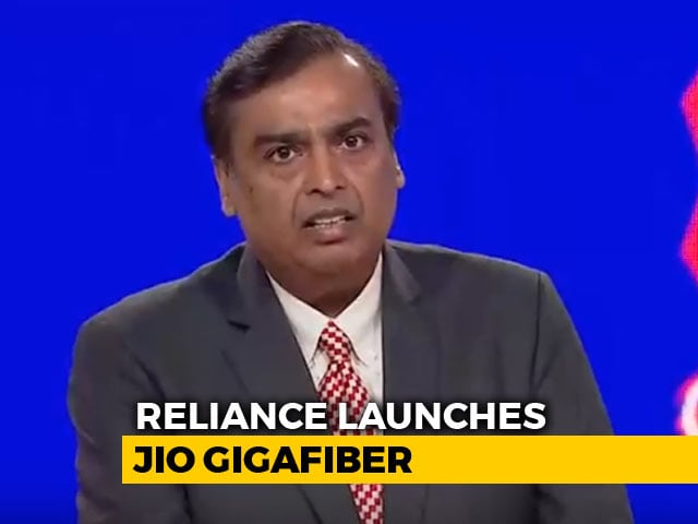 Video : Mukesh Ambani Announces JioGigaFiber, New Version Of JioPhone