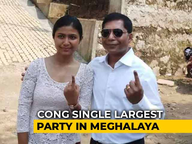 Video : Congress Wins Meghalaya's Ampati, Becomes Single Largest Party