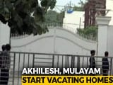 Video : Akhilesh Yadav, Mulayam Singh Yadav Start Vacating Lucknow Bungalows