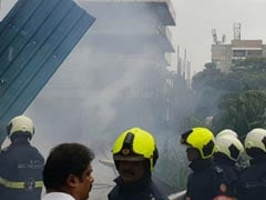 In Pics: Mumbai Plane Crashes In Crowded Ghatkopar