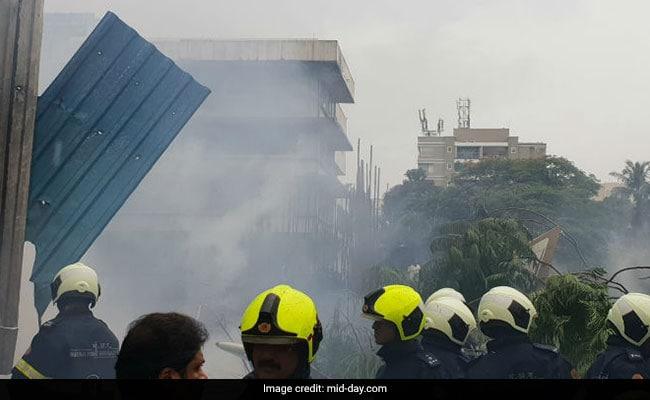 In Pics: Mumbai Plane Crashes In Crowded Ghatkopar
