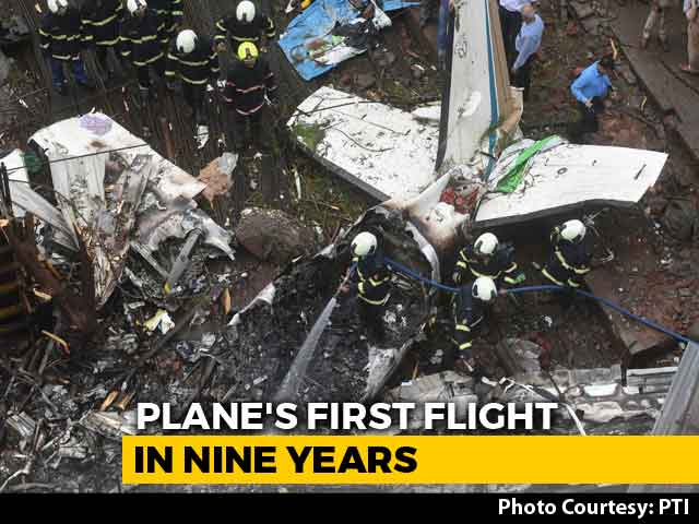 """Video : Plane That Crashed In Mumbai Declared """"Unserviceable"""" After UP Accident"""
