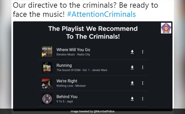 Mumbai Police Has A Funny Playlist For Criminals. Twitter Posts Suggestions