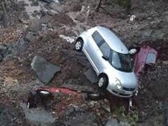 Cars Buried As Wall Of Upscale Mumbai Complex Collapses After Heavy Rain