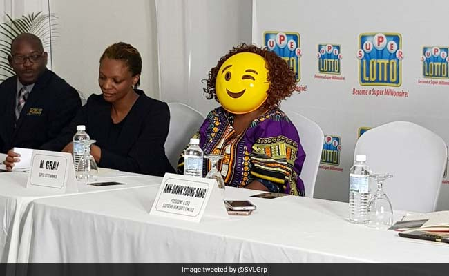 Multi Million Lottery Winner Shows Up In Emoji Mask To Hide Identity