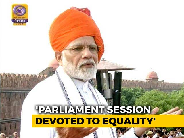 Video : Last Parliament Session Was For Social Justice, Says PM Modi On Independence Day